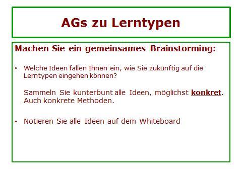 AGs Lerntypen