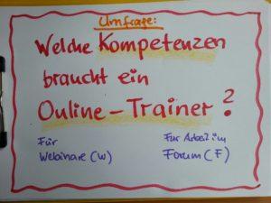 Kompetenzen Online-Trainer
